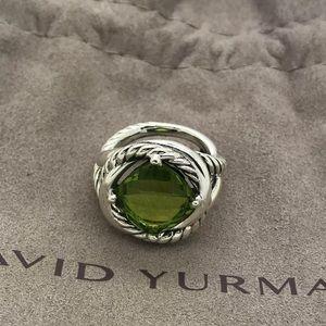 🌼DAVID YURMAN Silver Infinity Ring peridot